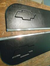 DOOR PANELS 73-87 CHEVY TRUCK LOWER DOOR PANELS BLACK VINYL W/ RECESSED  BOWTIE
