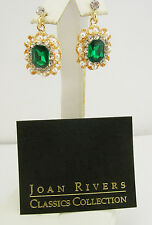 Joan Rivers Faux Pearl and Crystal Earrings (w/box, pouch and romance card)