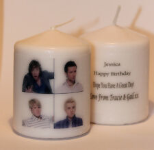 McFly photo image personalised Mini candle gift any occasion  Cellini