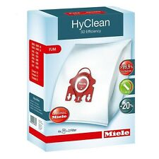 MIELE NEW 3D F/J/M VACUUM CLEANER BAGS HYCLEAN FJM SYNTHETIC+FILTER