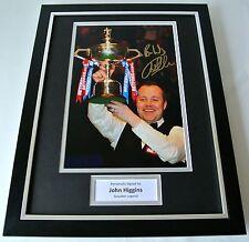John Higgins SIGNED FRAMED Photo Autograph 16x12 display Snooker Memorabilia COA