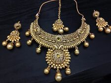New Necklace Earring Set Gold Jewellery Indian Asain Bridal Wedding Party
