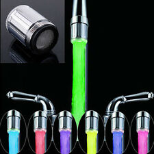 7 Colors RGB LED Light Shower Tap Bathroom Spraying Head Water Faucet Engaging