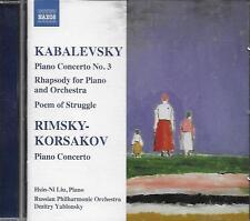 CD album: Kabalevsky: Rimsky-Korsakov: Dmitry Yablonsky. Naxos. T