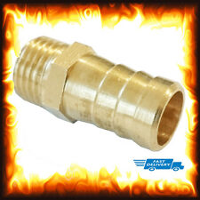 "1/4"" BSP to 12mm Brass Male Barb Hose Tail Fitting Fuel Air Gas Water Hose Oil"