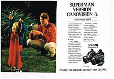 Publicité Advertising 1989 (2 pages) Le Camescope Canon avec Christopher Reeve