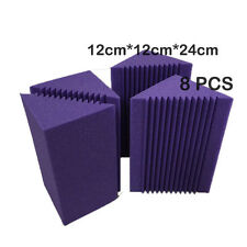 Soundproof Panel Bass Trap Purple 8 PCS Studio Corner Foam