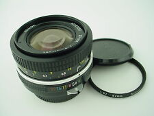 Nikon 20mm f/4 Nikkor non-ai Manual Lens w/ Caps and Filter- NICE