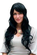 Perruque pour femmes,Wig,noir,cheveux longs,Pony,Postiche,env. 65 cm,9317-1B
