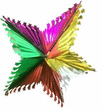 Christmas Hanging Starburst Multicolour Foil Decor Ornament Party Festive Xmas