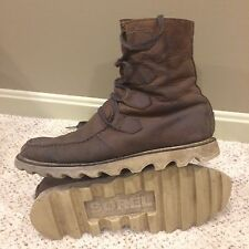 """SOREL """"MAD BOOT"""" LACE UP BROWN BOOT USED MEN'S SZ 11.5"""