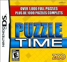 NINTENDO DS PUZZLE TIME BRAND NEW VIDEO GAME OVER 1000 PUZZLES