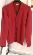 C'N'C Mens Long Sleeve Mohair Cardigan Red Blue BNWT Size M Italian 50 RRP £154