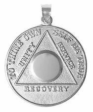 AA Alcoholics Anonymous Jewelry Ster Lg. Medallion #500