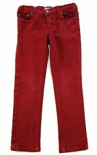 BONPOINT Girls Red Skinny Stretch Jeans trousers Age 4 3-4y
