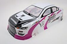 Mitsubishi Lancer EVO Pre-Painted RC Body 1/10th Scale White HPI Traxxas 190mm