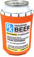 BEER SODA POP CAN HOLDER Prescription Bottle Coozi KooZiE COZY JOKE GAG PRANK