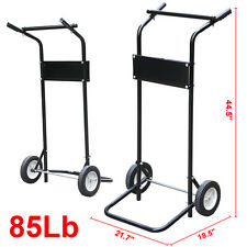 Outboard Boat Motor Heavy Duty Stand Carrier Trolling Cart Dolly Storage 85LB US