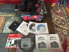 Canon EOS Rebel T1i 15.1 MP DSLR Camera + EF-S 18-55mm f/3.5-5.6 IS lens + MORE!