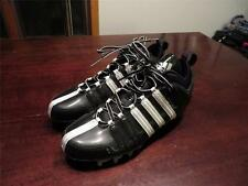 New Mint Adidas Scorch Mens Perfect Black & Silver Football Cleats Shoes Sz 9.5