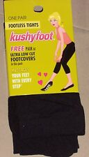 KUSHYFOOT Foot Less Tights nylon Black  massages your feet Size M/T