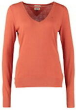 Tommy Hilfiger Womens Hayley V Neck Jumper Coral Orange XL UK14/16 Knitwear Sale
