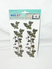 Wall Art Self Adhesive Decals Green Ivy Washable Fade Resistant New