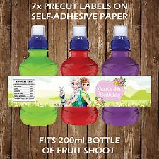 Fiebre congelada Personalizado fruta disparar etiquetas de botellas Niños Fiesta Favor Kids
