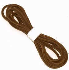"""1 Pair 83"""" Brown Leather Boot Lace, Boot Laces, Leather Strips"""