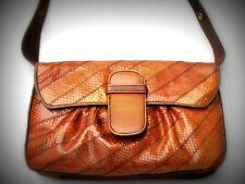 ITALY vintage bag beautiful RARE genuine SNAKE LEATHER