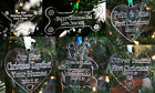 Personalised Christmas Tree Decorations First Present Bauble Gift Kids Pets Baby