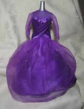 BARBIE PURPLE GOWN DRESS FASHION FOR DOLL