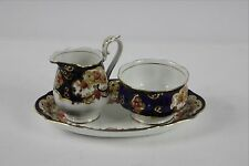 Royal Albert Heirloom Creamer & Open Sugar Bowl with under tray