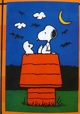 "small Peanuts Snoopy Halloween Ghosts Bats Garden Flag (12"" x 18"")"