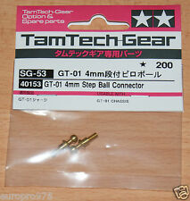 TAMIYA 40153 Tamtech-Gear gt-01 PASSO 4mm Connettore a sfera (gt01), Nuovo con imballo