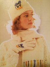Disney Daisy Duck Hat, Scarf And Glove Set Knitting Pattern