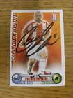 2008/2009 Autograph: Stoke City - Dickinson, Carl [Hand Signed 'Topps Match Atta