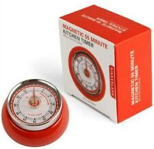 Red Retro Kitchen Timer Magnet 60 Minute Magnetic Kikkerland