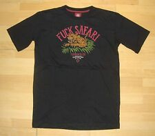 TURBOKOLOR - Snowboard Skateboard T-Shirt - Fck Safari - M - Black, Anti Hunting