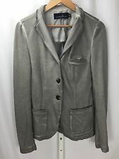 Liebeskind Berlin Gray 3 Button Cotton Blazer Jacket Size 40 Large