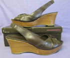 JONES THE BOOTMAKER LADIES BROWN LEATHER WEDGE SHOES SIZE 6 EURO SIZE 39 BNWB