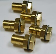 Brass Fittings: Bulkhead Coupling, Fem. Pipe 1/8, Male Thread 5/8-18, QTY. 5