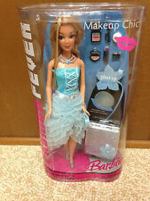Barbie Doll Fashion Fever Brilliant Blue Makeup Chic Mackie Face Root Eyelashes