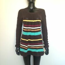 Volcom Women's Bikini Knit Cover Up Size Large Brown Beach Minnie Sweater L