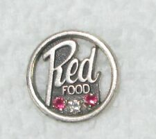 Red Food Store Sterling Silver Employee Service Lapel Pin Chattanooga TN Grocery