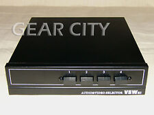 avs41 4 In 1 Out RCA AV Selector Audio Video Port Phono TV DVD Switch Input