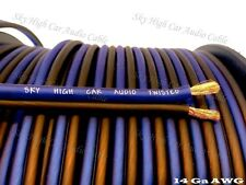 100ft TRUE 14 AWG CCA Speaker Wire Blue/Black Sky High Car Audio Car/Home Audio
