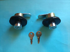 2 Tractor Supply Truck Toolbox Locks-Push-in Type with 2 keys Tool box Lock Key