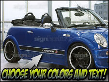 2001 and up Mini Cooper Custom Vinyl Decal Graphics 3 Color Side Stripes