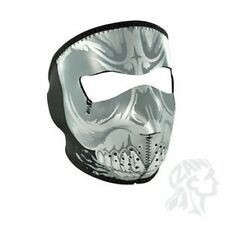 GREY FLEECE SKULL NEOPRENE FULL FACE MASK MOTORCYCLE ZAN HEADGEAR FREE SHIPPING